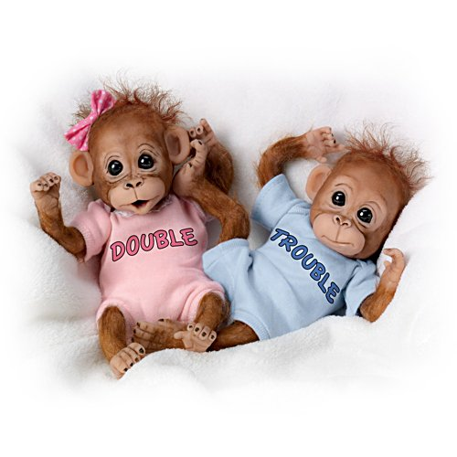 "Cindy Sales ""Double Trouble"" Orangutan Doll Set"