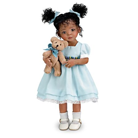 'Jada' Poseable Doll And Teddy Bear