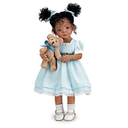 'Jada' Poseable Doll And Teddy Bear