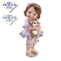 """Jane Bradbury """"Welcome Home, Kitty"""" Child Doll"""