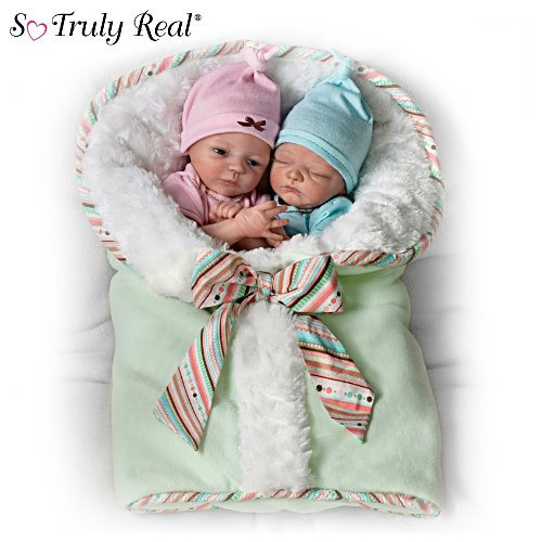 'Madison And Mason Baby' Twin Baby Doll Set