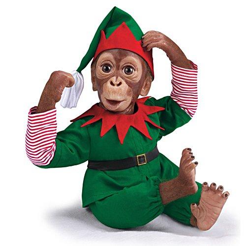 Jackie, der Weihnachtself – Affenpuppe