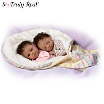 "Waltraud Hanl ""Jada And Jayden"" Lifelike Doll Set"