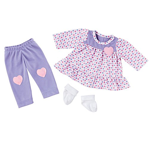 Happy Hearts 3-Piece Outfit For The So Truly Mine Baby Doll
