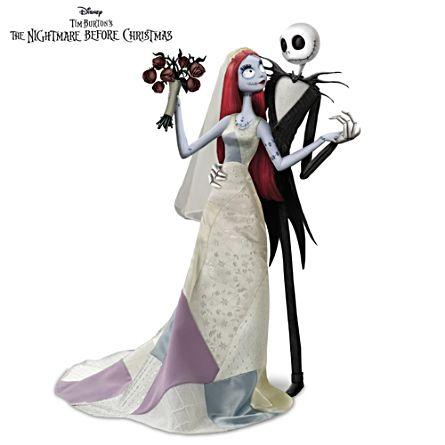 "Disney Tim Burton's The Nightmare Before Christmas ""Jack And Sally's Nightmare Romance"" Doll Set"