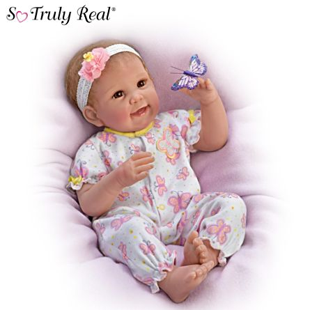 'Butterfly Kisses & Flower Petal Wishes' Baby Doll