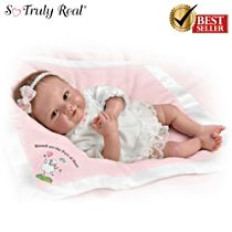 "Ping Lau ""Blessed Are The Pure Of Heart"" Lifelike Baby Doll"