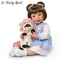 "Waltraud Hanl ""Emma And Baby Boots"" Child Doll"