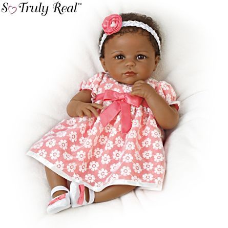 'Serena's Sunday Best' African-American So Truly Real® Baby Girl Doll