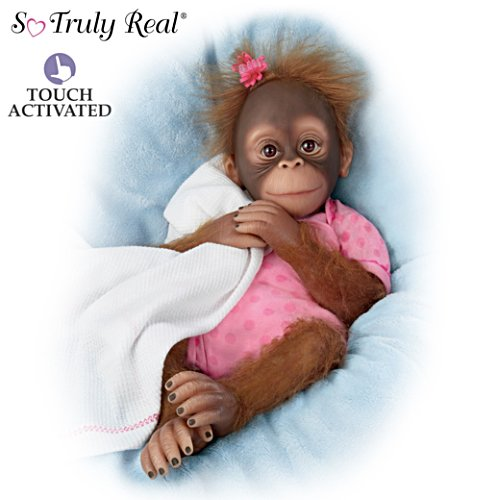 "Poseable Novi Monkey Doll ""Breathes"" When Touched"