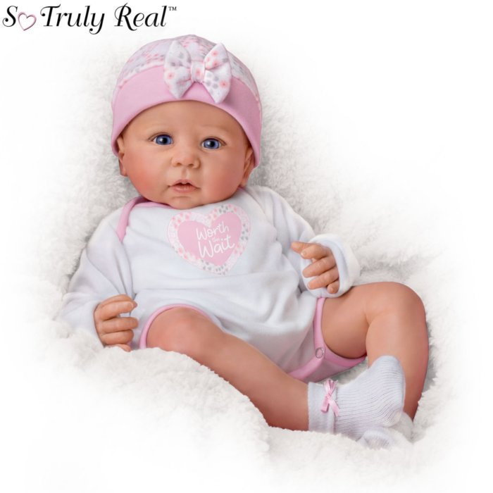 sports shoes a7919 440f4 Worth The Wait' Poseable Weighted So Truly Real® Baby Doll
