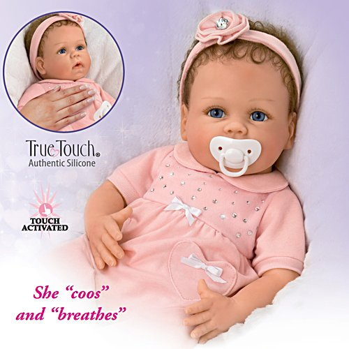 "Linda Murray Cooing Chloe ""Breathing"" Silicone Baby Doll"