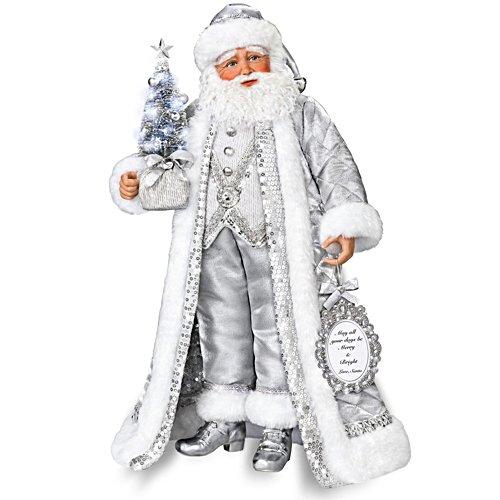Zilveren kerstman – portretpop