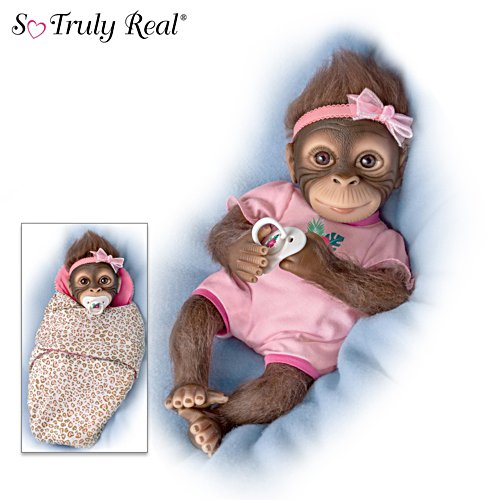 'Snuggle Suri' So Truly Real® Monkey Baby Girl Doll