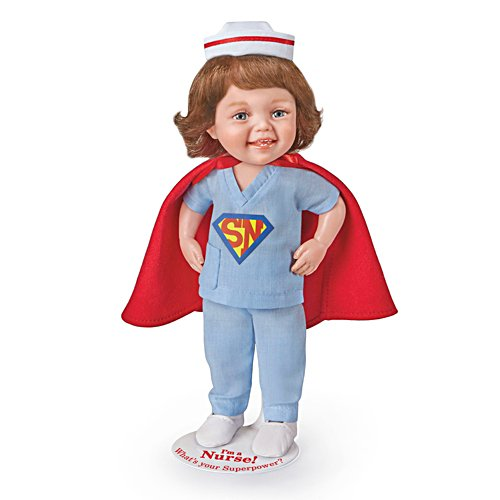 'I'm a Nurse! What's Your Superpower?' Girl Child Doll