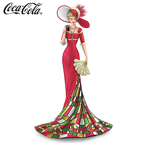 COCA-COLA® Lady Figurine With Tiffany Glass Inspired Skirt