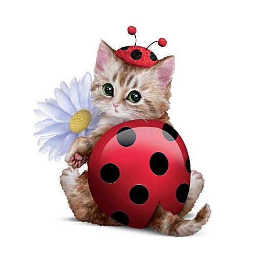 Süß wie ein Marienkäfer – Katzenskulptur