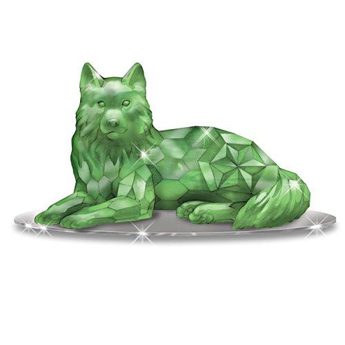 'Guardian of the Jadeite' Wolf Figurine
