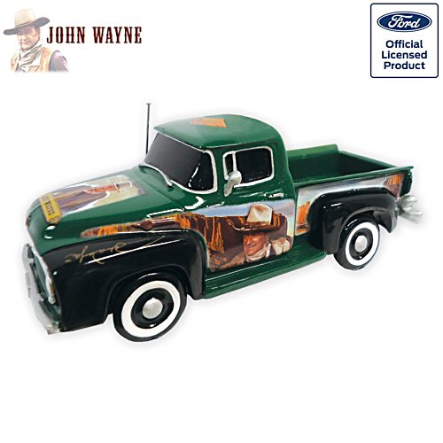 Ford Truck Sculpture with John Wayne Portraits
