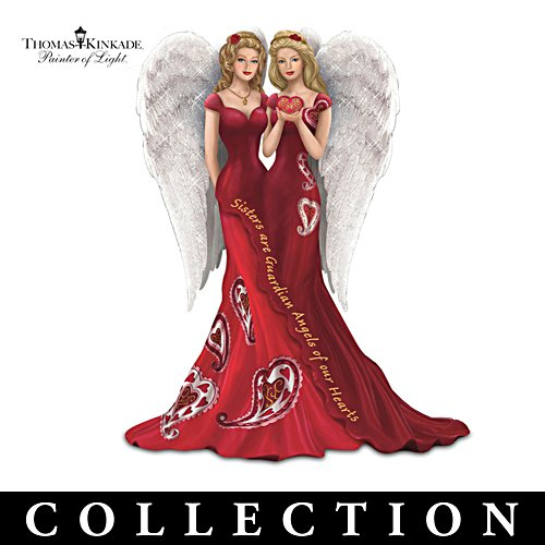 Thomas Kinkade Heart Health Awareness Sister Angel Figurine Collection