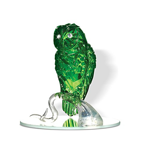 "Blake Jensen ""Wisdom Of The Jade"" Owl With Mirror Base"