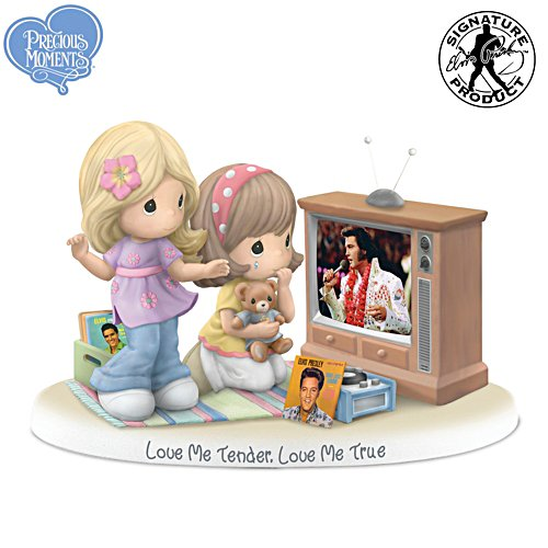 "Precious Moments ""Love Me Tender"" Elvis Presley Fan Figurine"