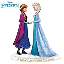 "Disney FROZEN ""A Sister's Love Warms The Heart"" Figurine"