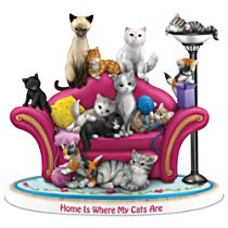 """Home Is Where My Cats Are"" Figurine"