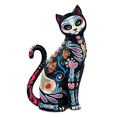 """Purr-fectly Sweet"" Sugar Skull Cat Figurine"
