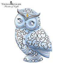Thomas Kinkade Owl Figurine