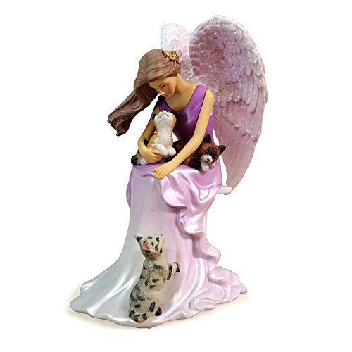 Snuggled Purrfectly Angel Figurine