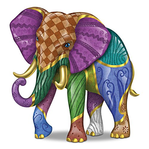 Keith Mallett 'Triumphant Tapestry' Elephant Figurine