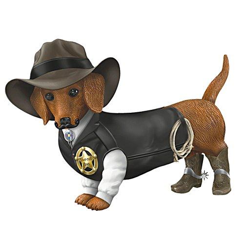 """Sher-ruff S. Paws"" Cowboy Dog Figurine"
