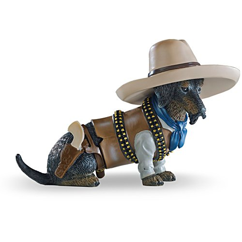 """Rowdy Wrangler"" Cowboy Dachshund Figurine"