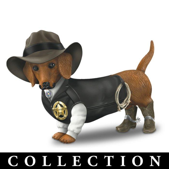 4b80d349046 Spurs 'N Fur Dachshund Cowboy Figurine Collection