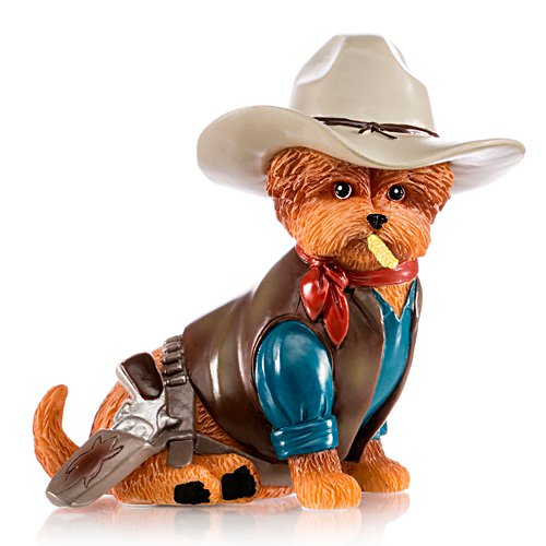 'Tails Of An Outlaw' Cowboy Yorkie Figurine