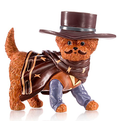 'A Paw-fect Hero' Cowboy Yorkie Figurine