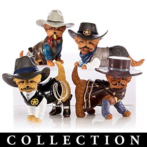 Spurs 'N Fur Yorkie Cowboy Figurine Collection