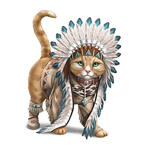 Häuptling Leise Pfote – Katzenfigurine