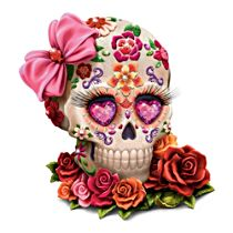 """Lady Amora"" Sugar Skull Art Figurine"