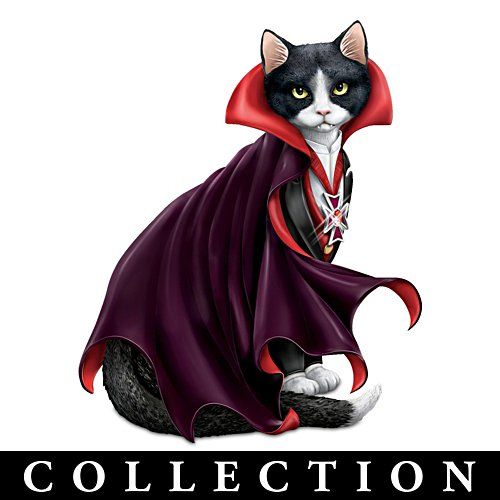 Halloween Monsters Cat Figurine Collection