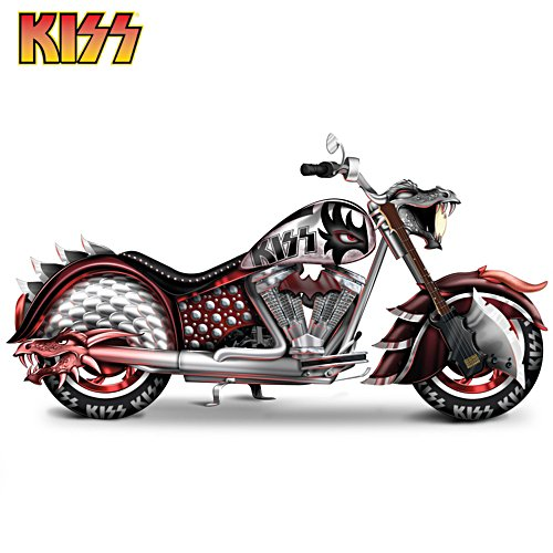 KISS Rock And Roll All Nite Motorcycle Sculpture