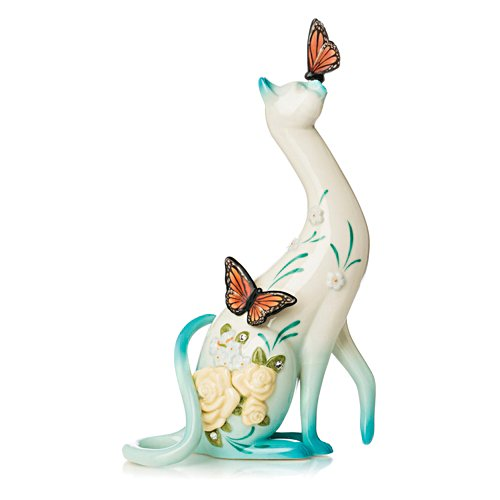 Joyful Meow-ment Bisque Porcelain Figurine