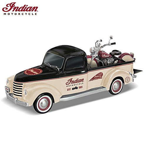 Klassiska Ikoner - Chevy pickup och Indian® Chief skulpturer