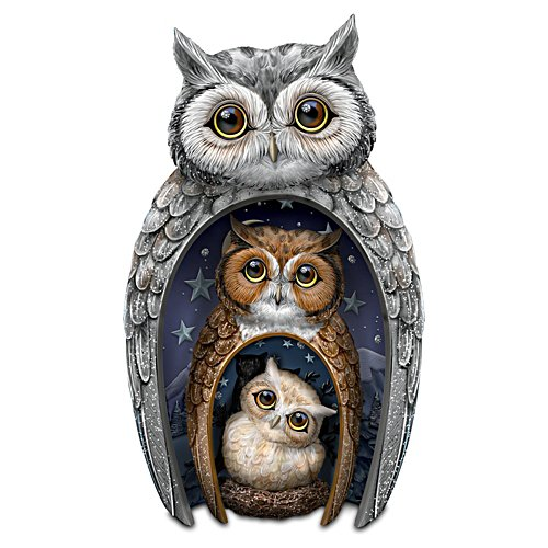 "Blake Jensen ""Eyes Of Wisdom"" Nesting Owls Set"