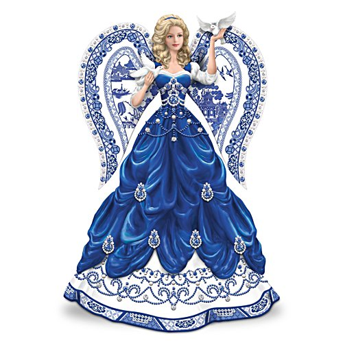 Blue Willow China Inspired Angel