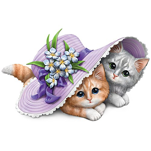 """Love Is Fur-Ever"" Kitten Figurine"