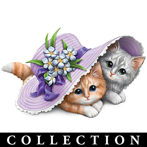 Kayomi Harai Alzheimer's Awareness Cat Figurine Collection