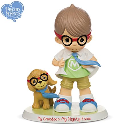 """Precious Moments """"My Grandson, My Mighty Force"""" Figurine"""