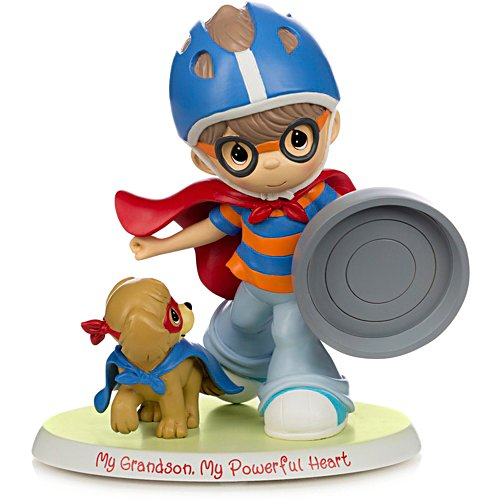 "Precious Moments ""My Grandson, My Powerful Heart"" Figurine"